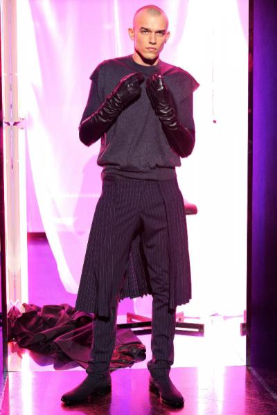 Adam Kaszewski otwiera pokaz Jean Paul Gaultier FW 2013/2014 w Paryżu