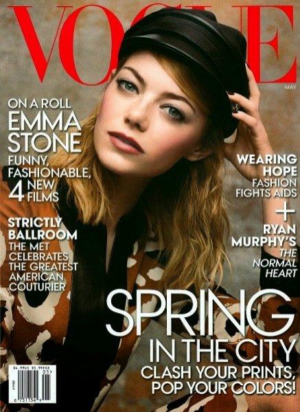 1. Emma Stone w majowym Vogue US