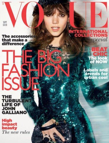 Freja Beha Erichsen na okładce Vogue UK