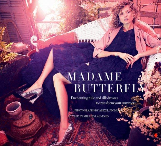 """1. Magdalena Frąckowiak w sesji """"Madame Butterfly"""" dla czerwcowego wydania Harper's Bazaar UK"""