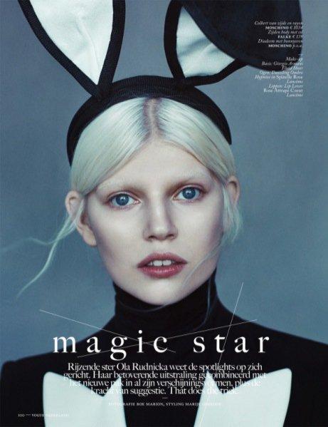 "1. Ola Rudnicka w edytorialu ""Magic Star"" dla Vogue Netherlands April 2014"