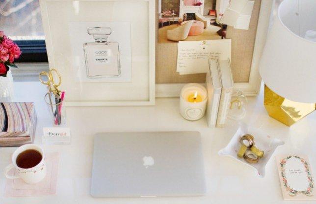 1. Inspiracja dla aranżacji biurka.