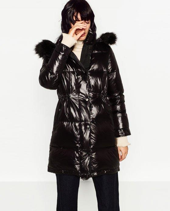 Modne kurtki puchowe z sieciówek - Zara