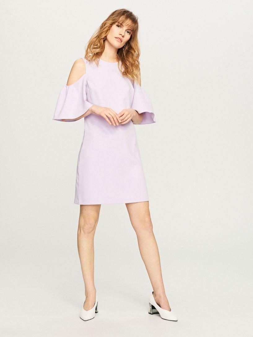Liliowa sukienka z wycięciami, Reserved, 100 pln