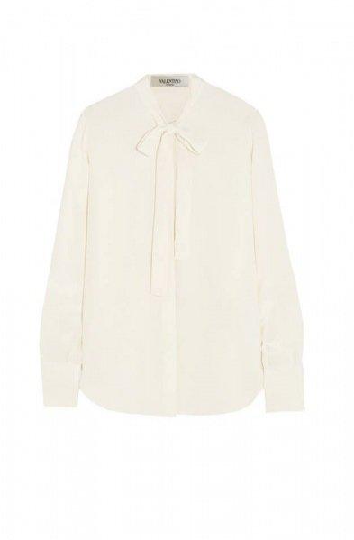 Biała jedwabna koszula Valentino - ok.3600PLN
