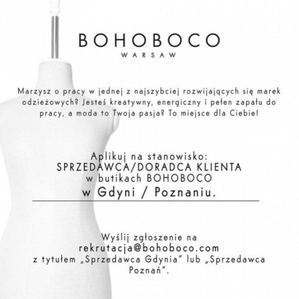 cc3669915789f OFERTA PRACY W BUTIKU BOHOBOCO | lamode