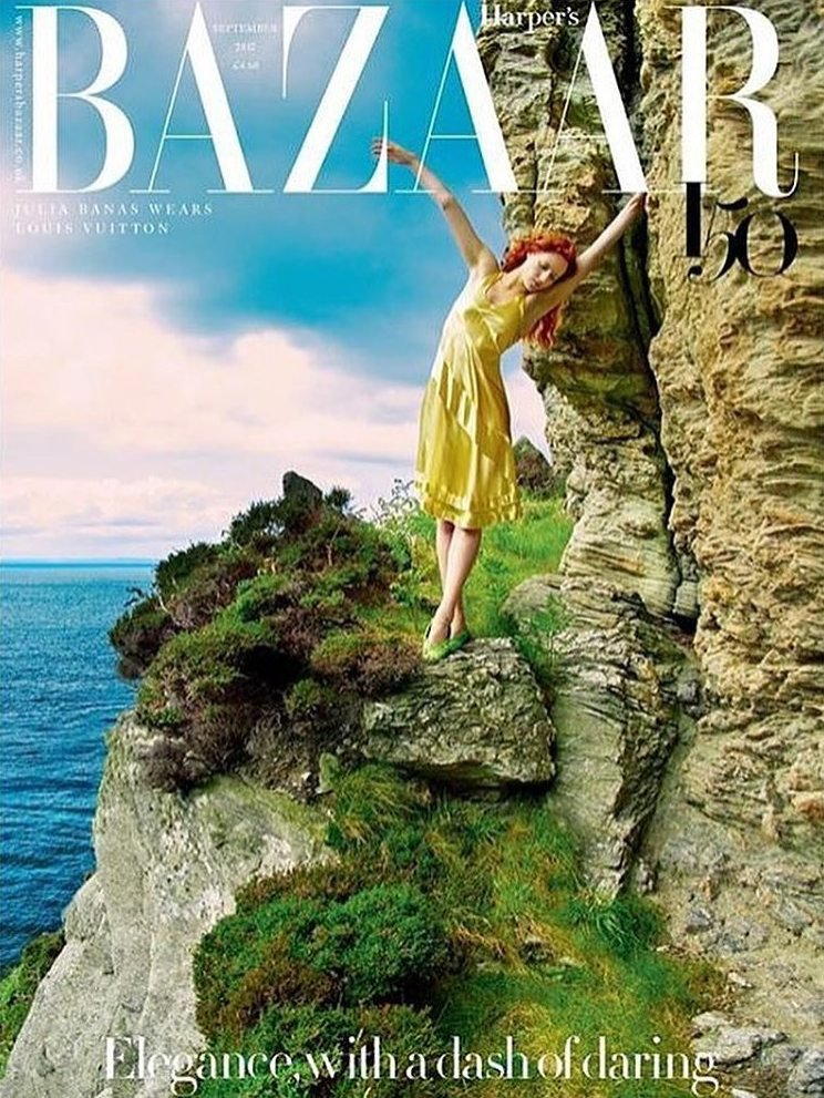 Julia Banaś z AS Management w edytorialu Harper's Bazaar UK wrzesień 2017
