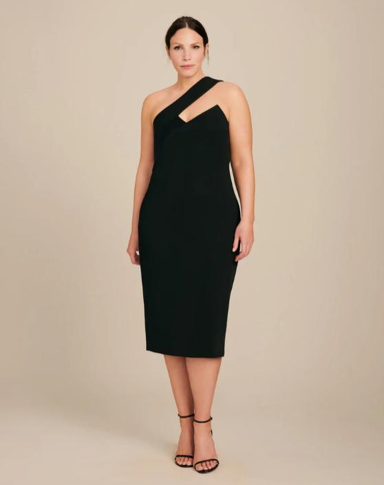 Czarna sukienka z paskiem, Cushnie/11 Honore, 152 dolarów