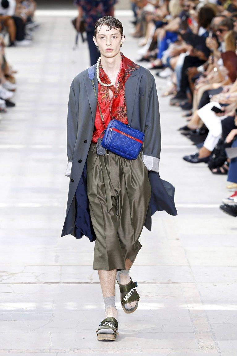 Szerokie spodnie Louis Vuitton