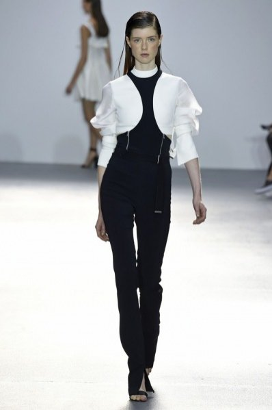 Trendy wiosna lato 2016 - black & white, David Koma