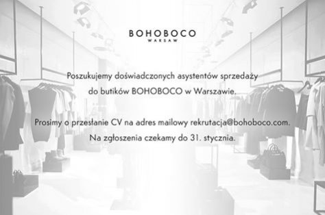 Oferty pracy w butikach BOHOBOCO