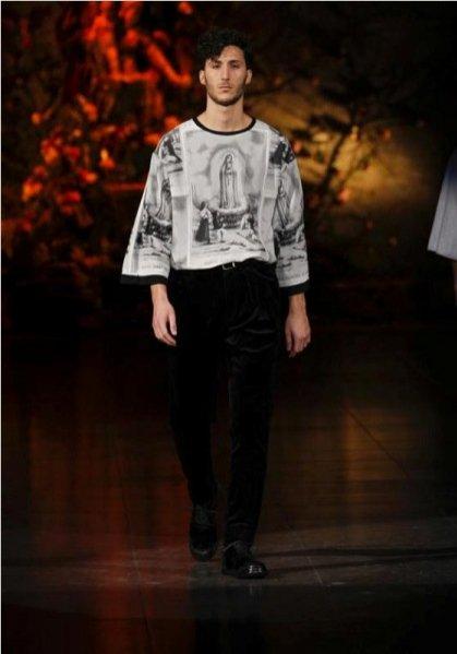 pokaz męskiej kolekcji Dolce&Gabbana jesień zima 2013/14