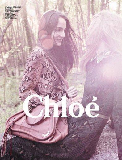 modelka Zuzanna Bijoch w jesiennej kampanii Chloe - 2011