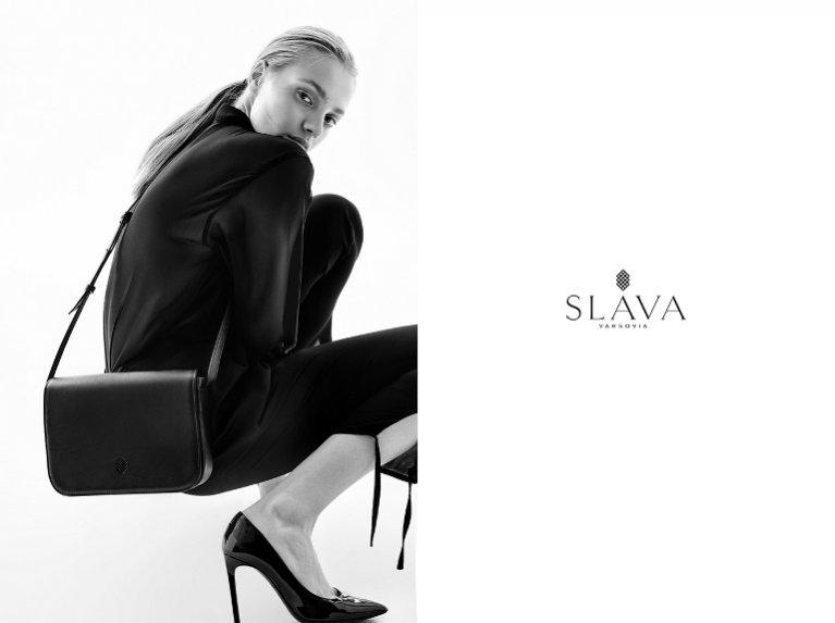 1. Anna Jagodzińska w kampanii marki SLAVA Varsovia