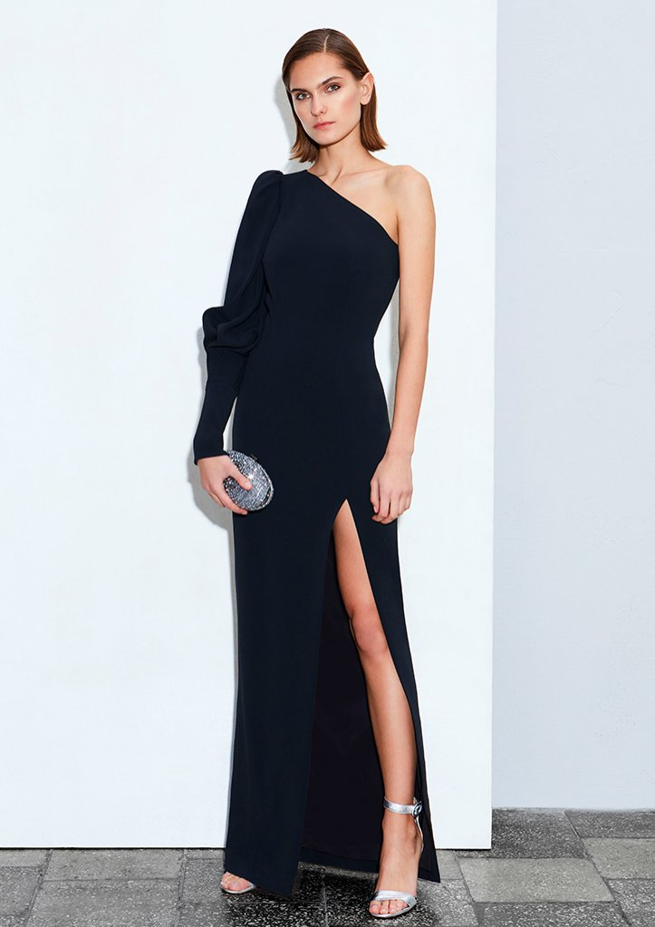 Czarna sukienka maci na jedno ramię Bohoboco, 3990 zł