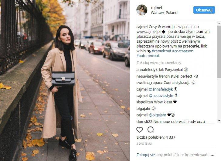 CAJMEL – klasyczny beżowy płaszcz do kostek
