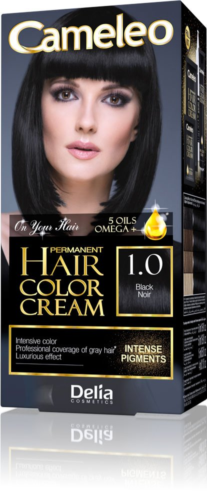 Farba CAMELEO PERMANENT HAIR COLOR CREAM - Black