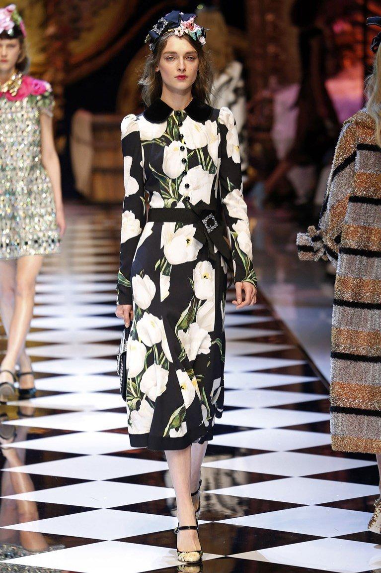 Sukienka Dolce&Gabbana jesień zima 2016/17