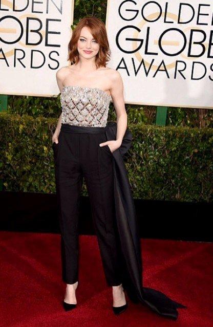 1. Emma Stone w Lanvin