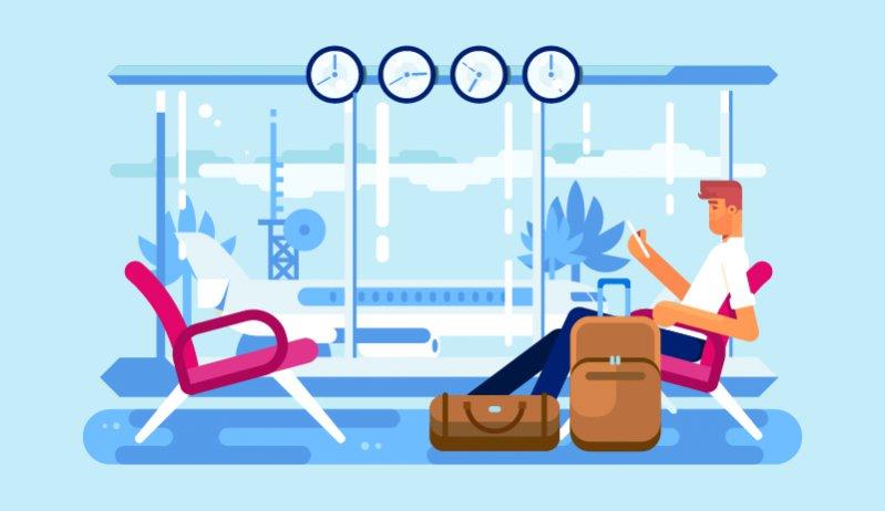 """1. Na lotnisku, tak jak i w samolocie, panują ścisk i kolejki. Najpierw do odprawy, później do kontroli bezpieczeństwa, a na końcu do wejścia na pokład, czy lotniskowego busika. Przyjmij zasadę """"spieszenia się powoli"""" - skoro jedziesz na wakacje, to zacznij odpoczywać już w podróży. Żeby nie stresować się kolejkami, przybądź na lotnisko z większym zapasem czasowym. Po odprawie internetowej musisz tylko nadać bagaż (o ile taki masz) i przejść kontrolę bezpieczeństwa. Zaakceptuj fakt, że jest kolejka i powstrzymaj się od głośnych komentarzy, dawania wyraźnych oznak zdenerwowania, czy prób """"wciśnięcia się"""" przed kogoś. Jeśli wiesz, że możesz się spóźnić na samolot, po prostu uprzejmie wyjaśnij tę sytuację osobie z początku kolejki i poproś o możliwość wejścia przed nią. Pasażerowie spóźniają się i będą się spóźniać - zwykle nie ze swojej winy. Zanim zirytujesz się na osobę, która prosi cię o przepuszczenie w kolejce, pomyśl, że być może padła ofiarą spóźnialskiego taksówkarza, czy nieprzewidzianego korka."""