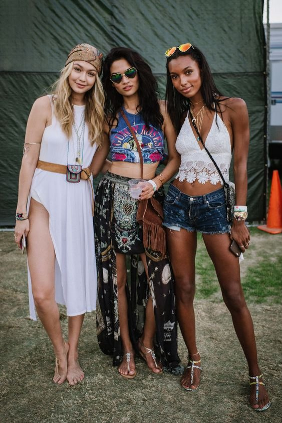 Gigi Hadid, Shanina Shaik, Jasmine Tookes (Coachella)
