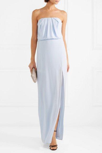Sukienka błękitna z rozporkiem, Halston Heritage/Net-a-Porter, 542 eur