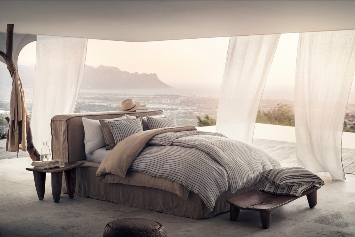 Łóżko na tarasie
