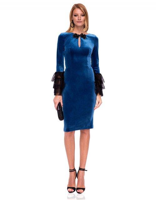 Aksamitna sukienka, Nissa/Showroom, 799 pln (wskazane)