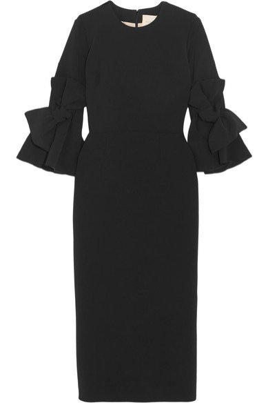 Czarna sukienka midi Roksanda / Net-a-porter (1295 euro)