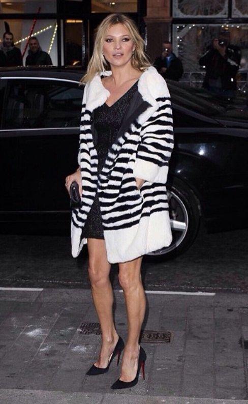 Kate Moss w futrze