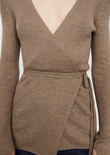 Toteme, wiązany kaszmirowy sweter