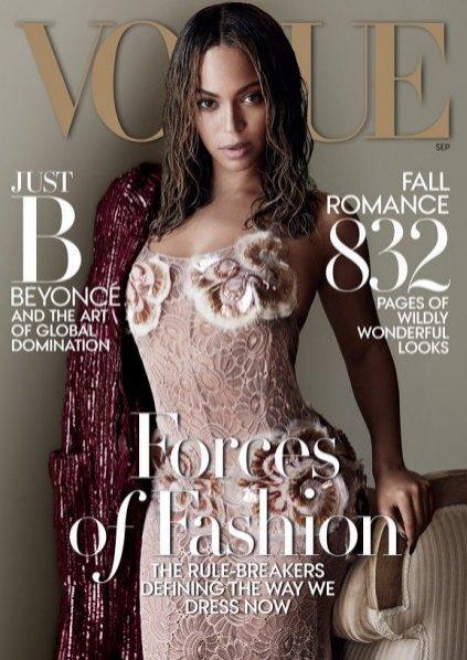 Beyonce na okładce Vogue US, wrzesień 2015