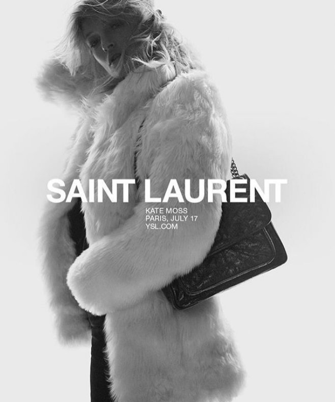 Kate Moss: Saint Laurent wiosna lato 2018