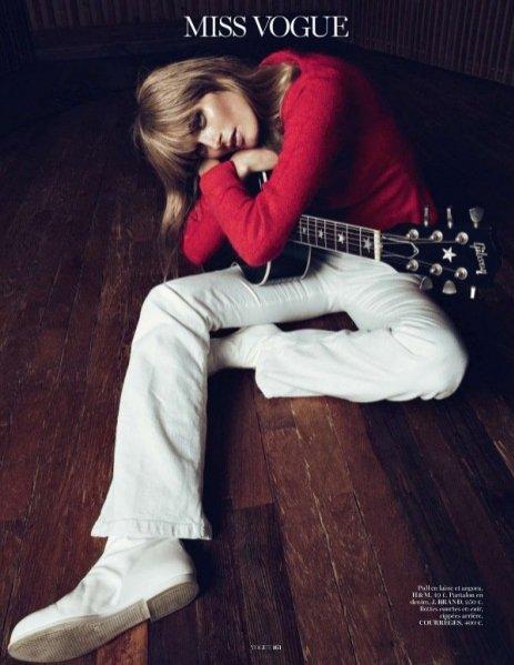 Małgosia Bela w sesji dla grudniowego Vogue Paris