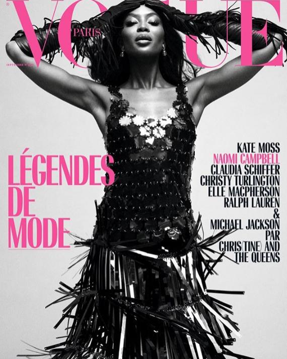 Vogue Paris wrzesień 2018: Naomi Campbell na okładce