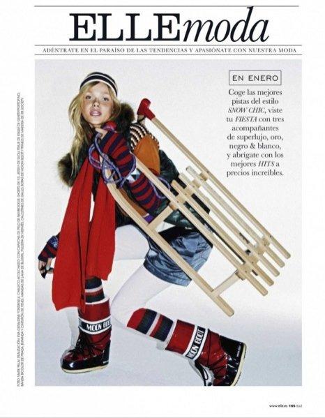 modne apres ski w styczniowym Elle Spain