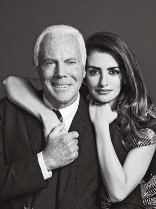 Penelope Cruz i Giorgio Armani w najnowszym Madame Figaro