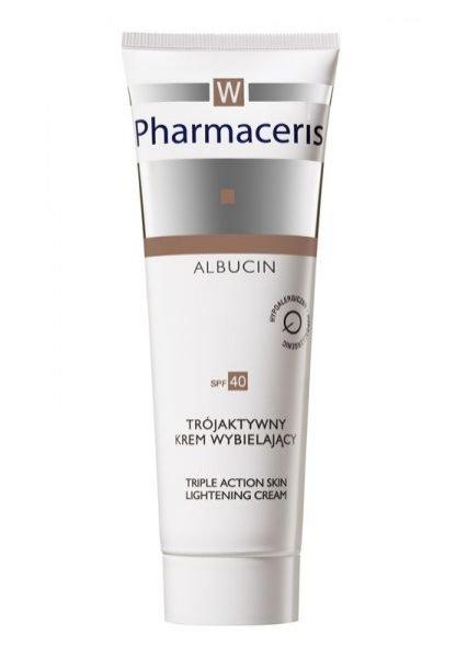 Wybiela, rozjaśnia i redukuje przebarwienia skóry.