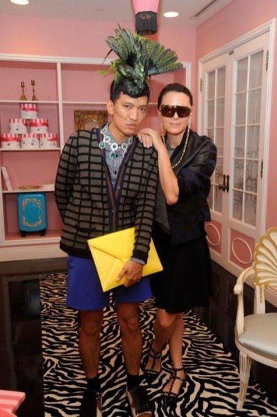 Bryanboy i Garance Dore na evencie Anna Dello Russo dla H&M
