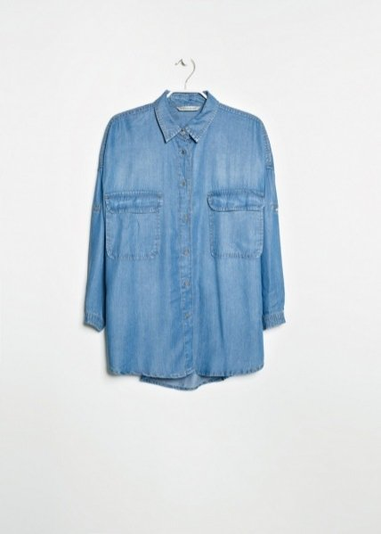 1. Koszula tencel z kieszeniami Mango, 109 pln