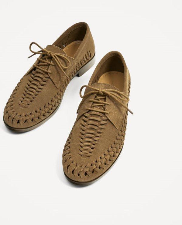 Zamszowe buty, Zara, 259 pln