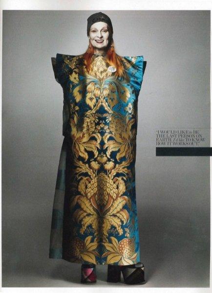 Vivienne Westwood w sesji Interview