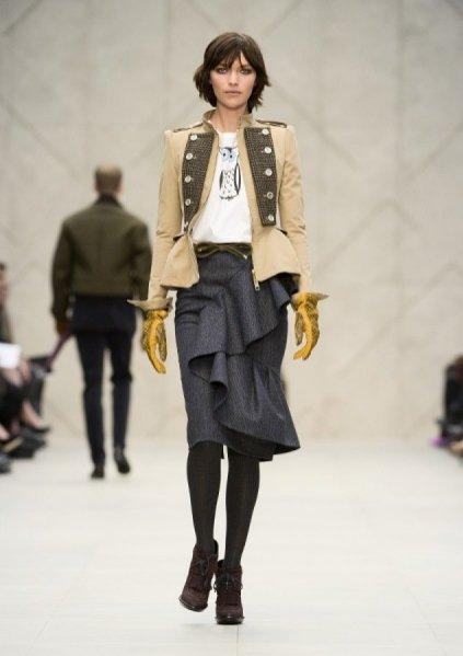 pokaz damskiej kolekcji Burberry Prorsum jesień zima 2012