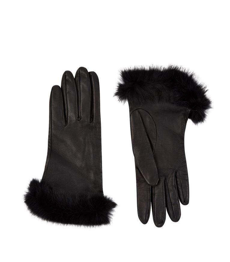 Czarne rękawiczki Harrods of London