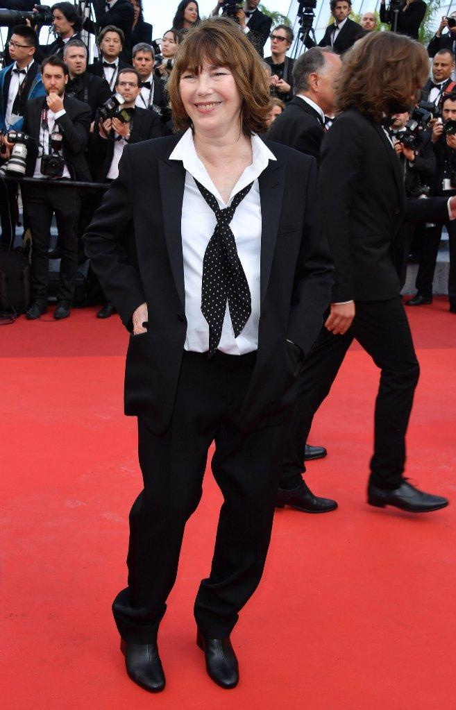 Ines de la Fressange na festiwalu Cannes w płaskich butach