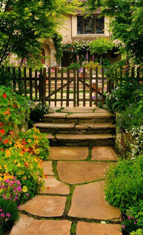 Ogród w sielskim stylu
