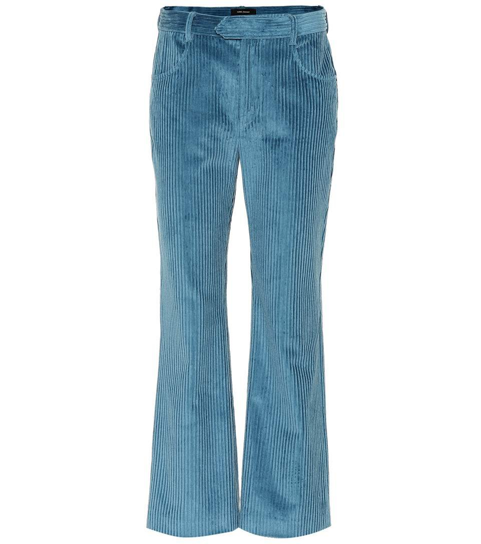 Sztruksowe spodnie z szerszą nogawką, Isabel Marant/Mytheresa, 320 eur