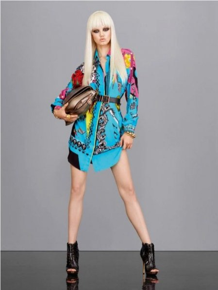 Lindsey Wixson w lookbooku Versace wiosna lato 2013