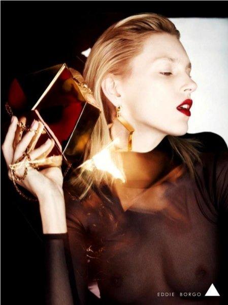 Anja Rubik w kampanii Eddie Borgo
