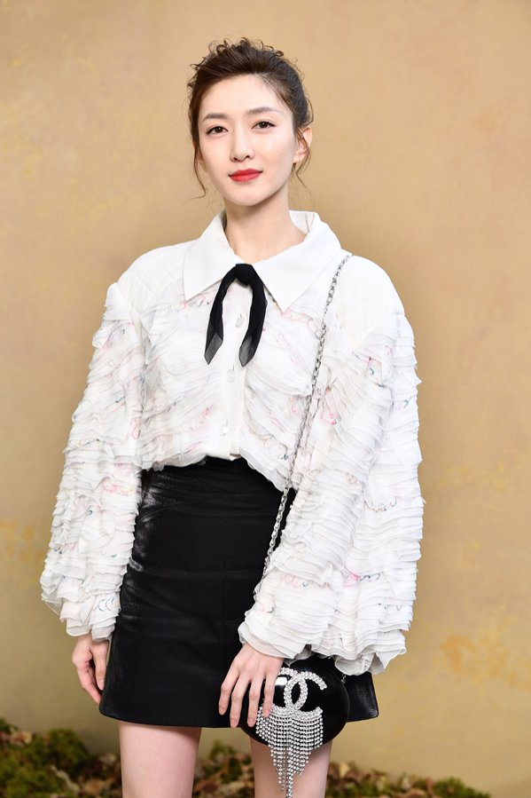 Maggie Jiang na pokazie Chanel Fall18